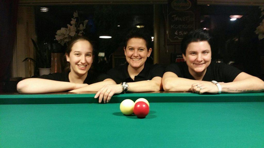 Biljartclinic PRO Female Billiards - Mirjam Pruin-Daiisy Werdekker - Therese Klompenhouwer